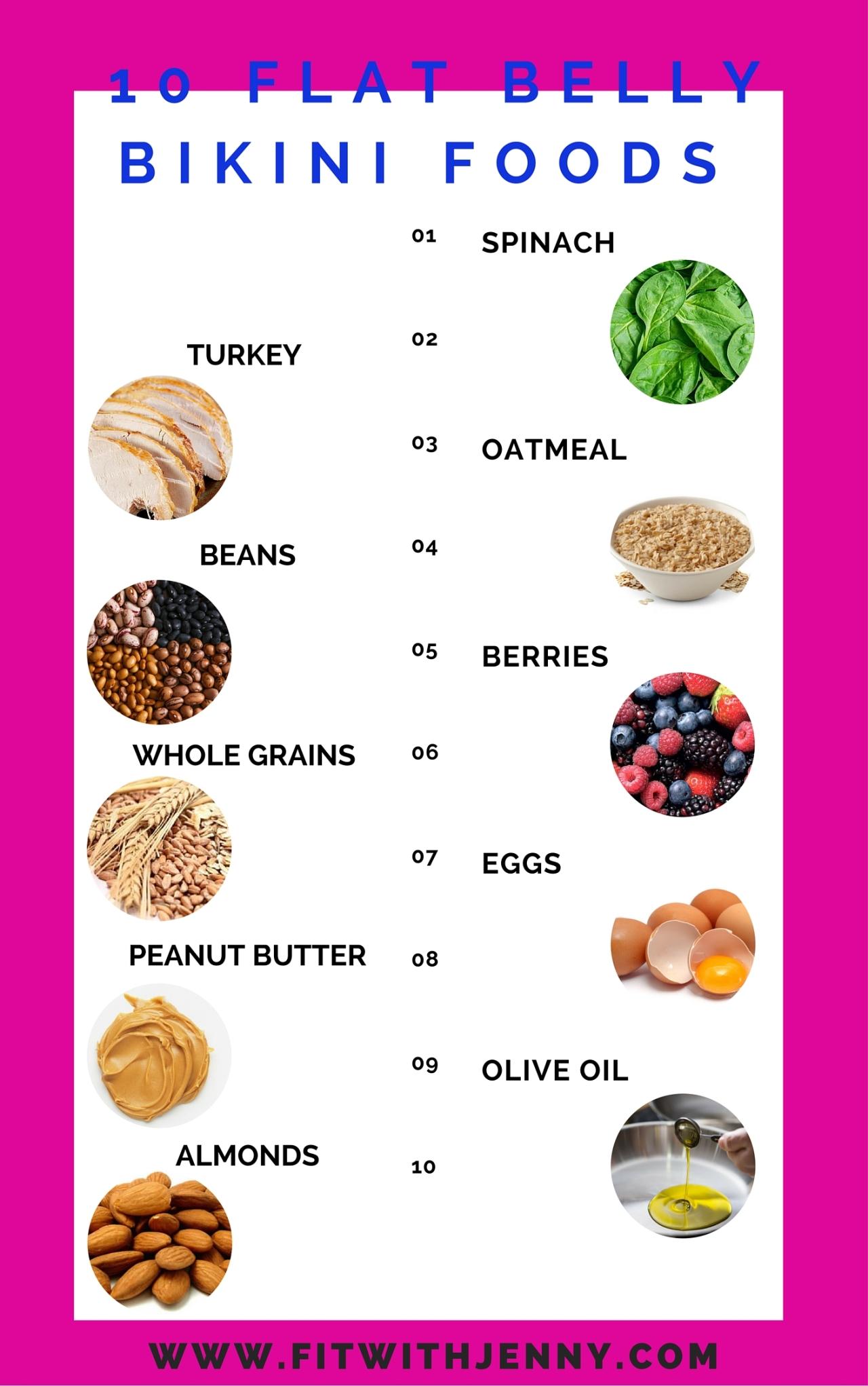 10 Flat Belly Bikini Foods Fit With Jenny
